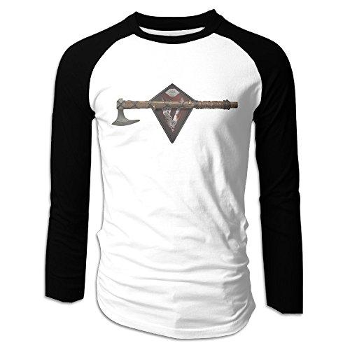Creamfly Mens Vikings Season 4 Logo Long Sleeve Raglan Baseball Tshirt XXL