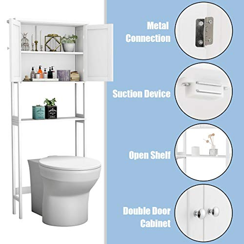 BestComfort Free Standing Over The Toilet Space Saver, Bathroom Cabinet  Organizer Over Toilet,Storage Cabinet With ...