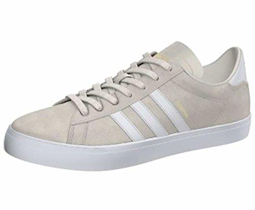 Adidas Heren Campus Vulc Ii Skate Schoen Krijt Wit / Schoeisel Wit / Goud Metallic