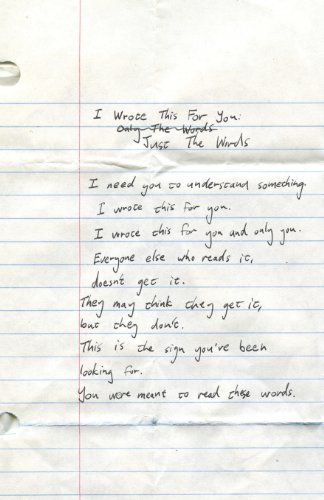 I Wrote This For You: Just the Words [pleasefindthis - Iain S. Thomas] (Tapa Blanda)