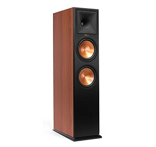 Klipsch RP-280FA Floorstanding Speaker with Built-In Dolby Atmos Height Channel - Each (Cherry Vinyl) by Klipsch