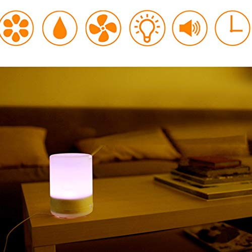 Yu2d  Ultrasonic Aroma Essential Diffuser Air Humidifier Purifier Aromatherapy300ML UK(White) -