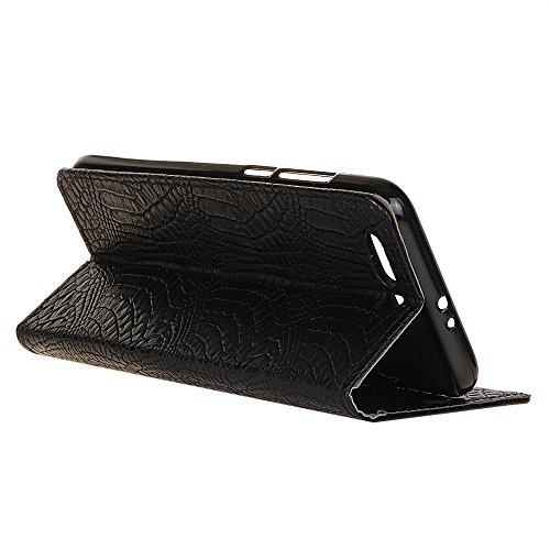 SRY-Conjuntos de teléfonos móviles de Huawei Para Huawei Hornor 9, cubierta magnética de la caja de la bolsa de la carpeta del soporte del tirón del encierro, caja de cuero de la PU de SkinTexture del Black