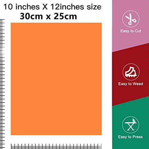 40 x trasferimento di calore vinile tessile film carta trasferibile 12 x 10 pollici plotter pellicola tessile per Cricut e Silhouette Cameo utilizzato in abbigliamento t-shirt