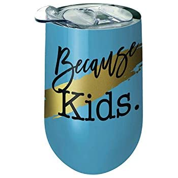 48222d59469 Amazon.com: Spoontiques 16942 Because Kids Stainless Wine Tumbler ...