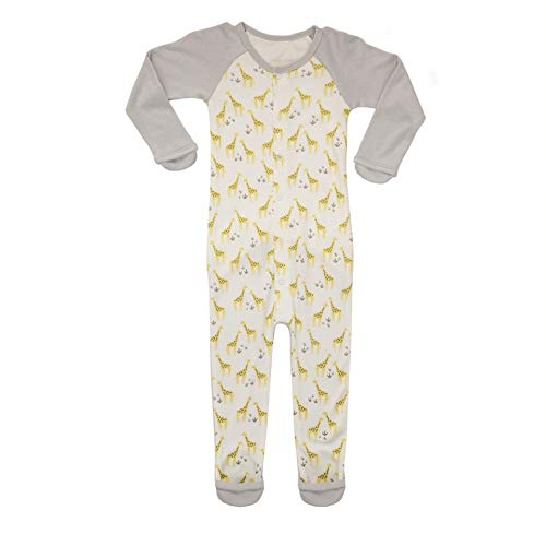 Goumi'all, Smart Adjustable Footie Baby Pajamas Made with Soft, Organic Material (3-6 Months, On Safari)