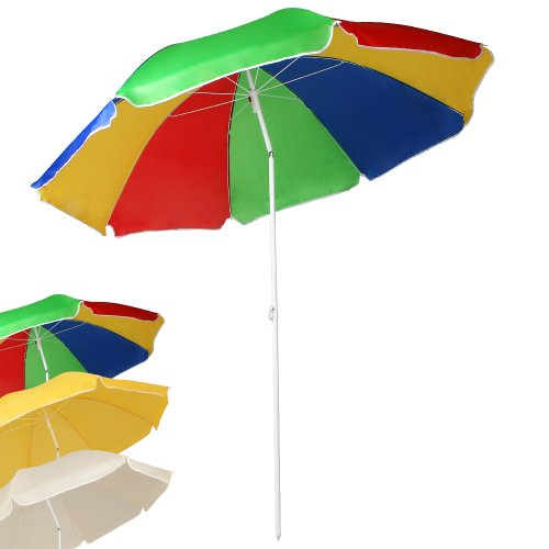 Miadomodo Wasserabweisender Sonnenschirm Strandschirm Sonnenschutz Schirm mit Knickgelenk höhenverstellbar mit Größen- und Farbwahl
