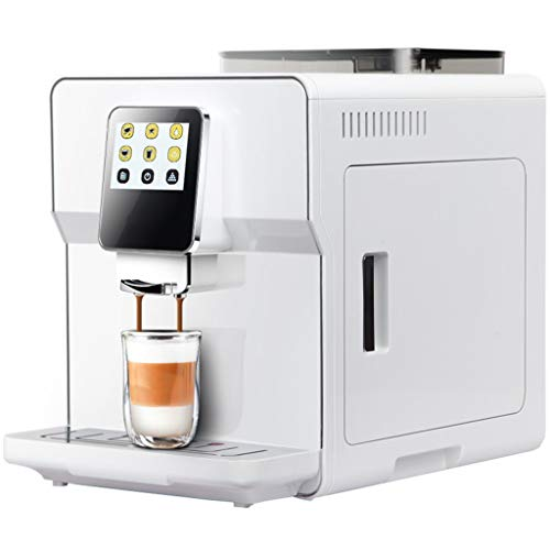 Buona Mattina Super Automatic Cafe Quality Espresso, Latte, Americano and Cappuccino Machine with Whole Bean Grinder and Milk Frother, White