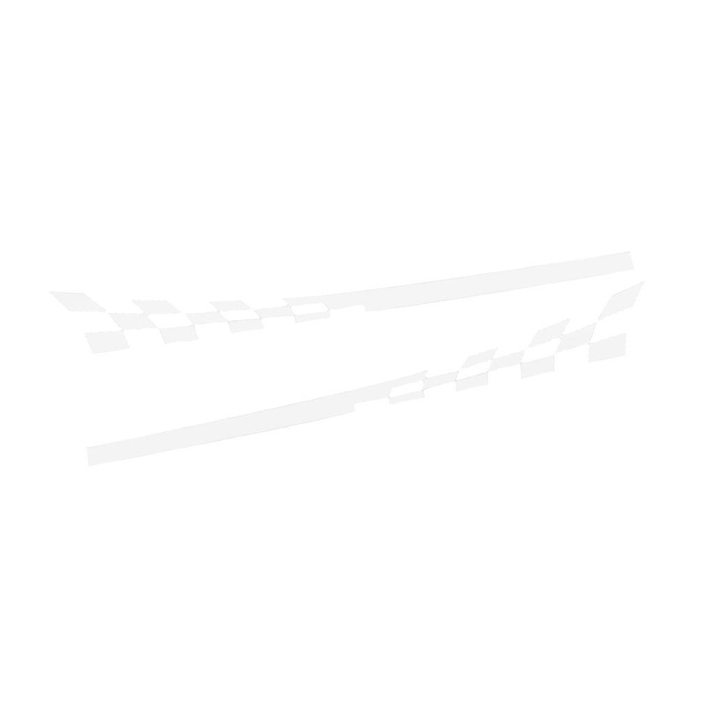 MagiDeal 2x Autoadesivo Racing Striscia Decalcomania Auto Nero
