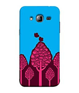 ColorKing Samsung J5 2015 Case Shell Cover - Trees Multi Color