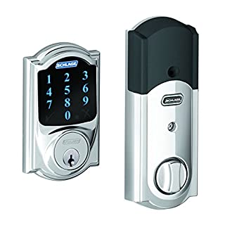 Schlage Connect Camelot Touchscreen Deadbolt with Built-In Alarm, Bright Chrome, BE469 CAM 625 (Works with Amazon Alexa) (B00DEEKYTQ) | Amazon price tracker / tracking, Amazon price history charts, Amazon price watches, Amazon price drop alerts