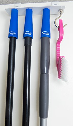Magnetic Style Door Mount Mop and Broom Holder with Magnetic Grips. No tools required for installation. Most stylish organizing system. Installs in seconds. Best choice for mops, brooms&brushes.