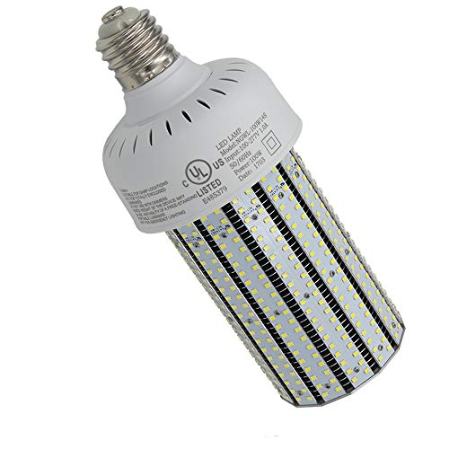 (NUOGUAN 100W E39 Mogul LED Corn Cob Bulb 135Lm/W Retrofit 400 Watt Metal Halide HID Warehouse Parking Lot Light 13442 Lumens Daylight White 5000K)