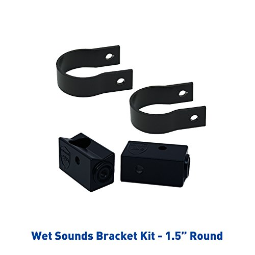 (Wet Sounds Stealth Mounting Bracket Kit - Slider Bracket and Round 1.5