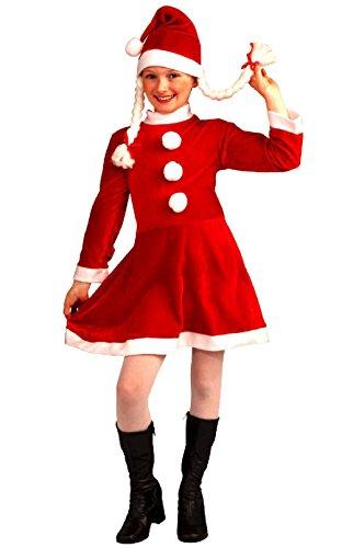 Circus Sweetie Mini Top Hat (Child Little Miss Santa's Helper Elf Christmas Costume Dress Girls Med 8-10 Hat)