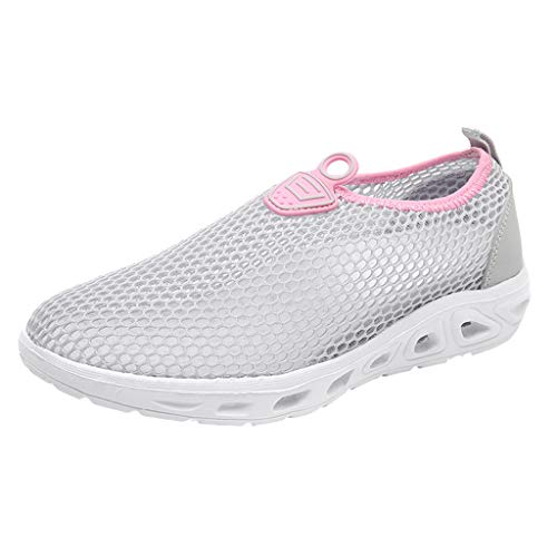 Water Sports Shoes for Women - WEUIE Barefoot Quick Dry Swim Beach Pool Surf Yoga Flats Shoes Mesh Sneakers