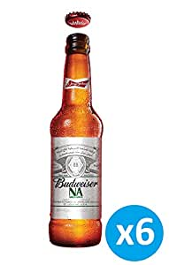 "Budweiser Apple Flavour ""Non Alcoholic"" Beer - 355 ml (Pack of 6)"