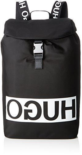 HUGO Tribute_backpack - Zaini Uomo, Nero (Black), 16x43x27 cm (B x H T)