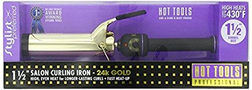 Hot Tools Professional 1102 Curling Iron with Multi-Heat Control, Big Bumper 1-1/2