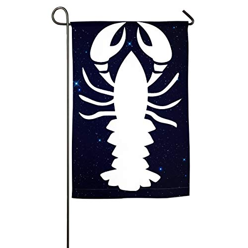 (Lobster Clipart Garden Flag Graphic Wedding Anniversary Flag Spring Summer Yard Outdoor)