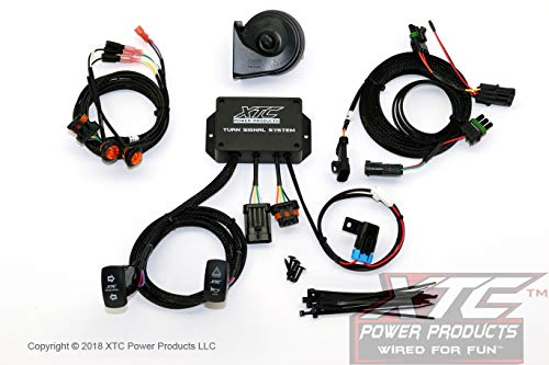 XTC Power Products Can-Am Maverick X3 Street Legal Turn Signal System with Horn - Plug & Play - Uses Factory Tail Lights