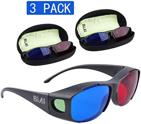 BIAL Red-Blue 3D GlassesGlasses CaseCyan Anaglyph Simple Style 3D Glasses 3D Movie Game-Extra Upgrade Style (3PCS) / BIAL Red-Blue 3D GlassesGlasses CaseCyan Anaglyph Simple Style 3D Glasses 3D Movie Game-Extra Upgrade Style (3PCS)