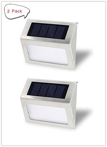 Seeteck Solar Lights Outdoor,Solar Step Lights Outdoor Waterproof With Led  Lights, Mini Solar