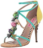 Betsey Johnson Women's RUDEY Heeled Sandal Turquoise/Multi 8 M US
