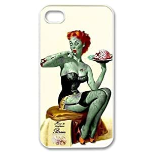 Custom Personalized Zombie Pin-Up Girl Cover Hard Plastic For Apple Iphone 4/4S Case Cover