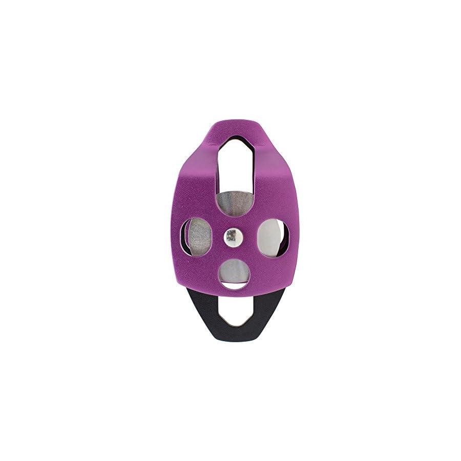 Fusion Climb Secura Double Aluminum Side Swing Pulley Purple