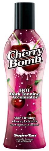 Supre Cherry Bomb Red Hot Dark Accelerator Tanning Lotion 8 oz. (Best Tanning Lotion For Beginners)
