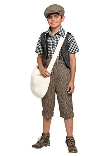 Child 20s Newsie Costume Medium (Newsboy Costume)