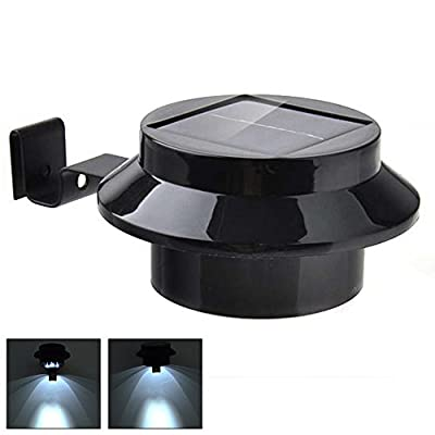 Odlight Waterproof Wall Mount Solar Powered Circular Gutter Landscape Security Night Light for Fence Street Garden Outdoor