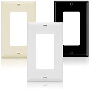 ENERLITES Decorator Light Switch or Receptacle Outlet Wall Plate, Size 1-Gang 4.50 Inches x 2.76 Inches, Unbreakable Polycarbonate Thermoplastic, 8831-W-10PCS, White (10 Pack), UL Listed