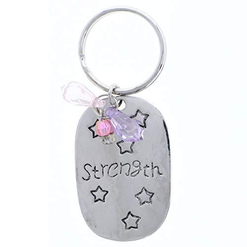 Unity Star - Strength Liberty Freedom Joy Unity Star Split-Ring-Keychain Silver-Tone/Pink