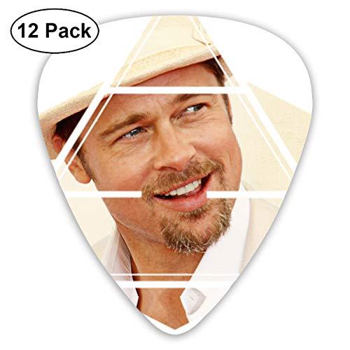Davida Brad Pitt Celluloid Guitar Picks Plectrums (12 Pack) for Electric Guitar, Acoustic Guitar, Mandolin, and Guitar Bass
