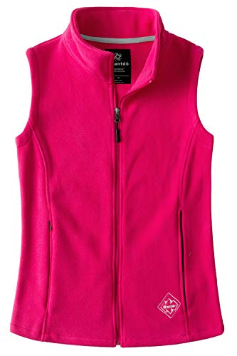 Wantdo Women's Outdoor Full Zipper Fleece Vest Rose Red XL