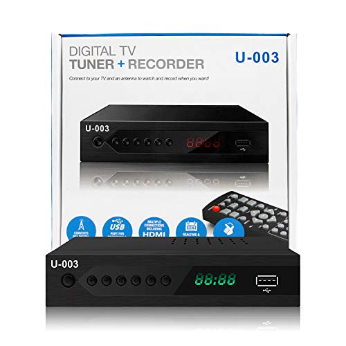 Analog to Digital TV Converters Box-UBISHENG U-003 for Analog HDTV Live 1080P ATSC Converters with PVR Recording-Playback,HDMI Output,Timer Setting LED Display HDTV Set Top Box Digital Channel Free (Hd Tv Converter Box)