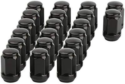 dynofit 1/2-20 ラグナット ホイールスペーサー 23pcs black (19mm hex) ブラック FF-D023P
