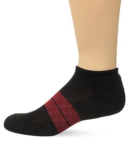 Thorlos Men's Thick Padded 84N Runner Socks, Black/Red, Medium (Men's Shoe Size 5.5- 8.5) - 84n Runner