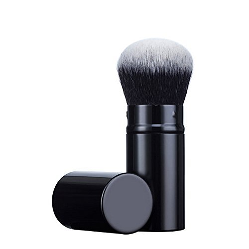 Powder Cream Mineral Foundation (Mily Retractable Cosmetic Makeup Brush Kabuki Brush-Blush Brushes Incredibly Soft Makeup Brush Best for Blending Mineral Powder, Liquid, or Cream Bronzer & Foundation by Mily)