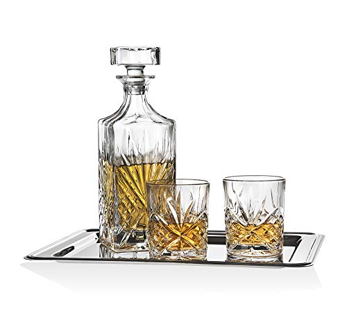 Dublin Whiskey Bar Set Includes Whisky Decanter 6 Old