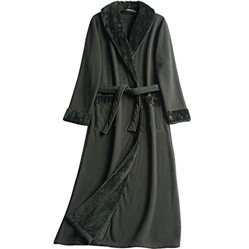 El Pijama Lazo Mmllse Albornoz Terciopelo Acolchado Camisón Masculino Suelta Green Del pnnqdxZ6