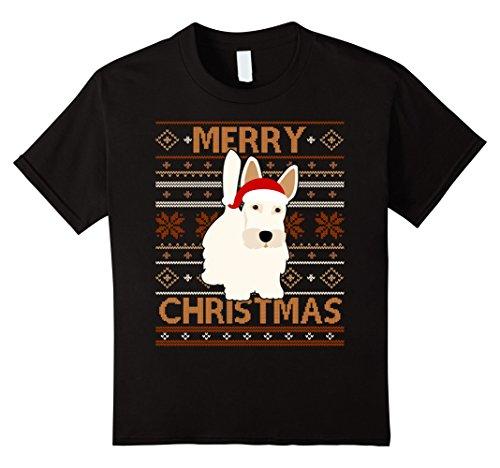 Kids Santa Scottish Terrier Merry Christmas T-shirt Pet L...