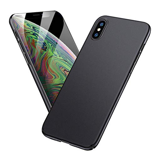 Meidom Case for iPhone Xs Max با استفاده از فوق العاده نازک و محافظ سخت پلاستیک ضد اثر انگشت باریک مورد سازگار iPhone Xs Max - Black