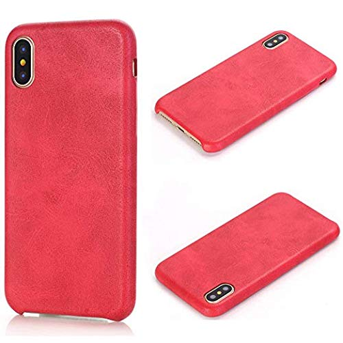 TechCode iPhone X Case 5.8 inch Cover, Luxury PU Leather Bumper Cover Phone Skin Super Slim Protective Case For Apple iPhone X 5.8 Inch