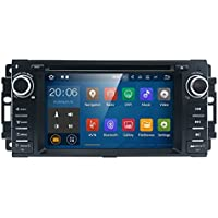 Android 7 Car stereo CD DVD Player - In Dash Car Radio Multimedia Player Navigation System with 6.2 LCD Bluetooth Wifi GPS for Jeep Wrangler Dodge Chrysler