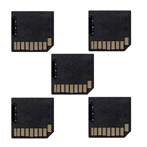 Cablecc 5pcs Micro SD TF to SD Card Kit Mini Adaptor Low Profile for Extra Storage MacBook Air/Pro/Retina Black