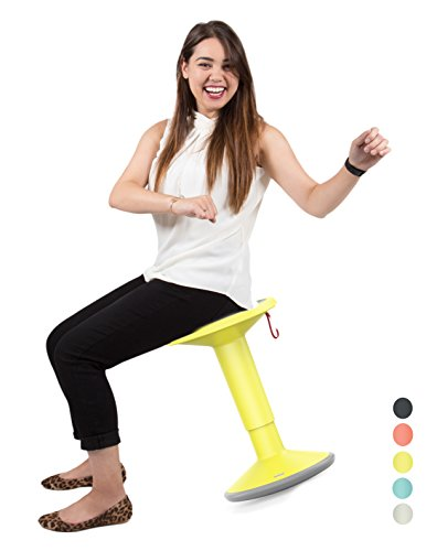 Stand Steady Up Wobble Stool for Seating Performance with Active Sitting - Premium Ergonomic Stool / Ergonomic Office Chair for Comfort & Back Pain Relief - Made in Germany (Yellow)