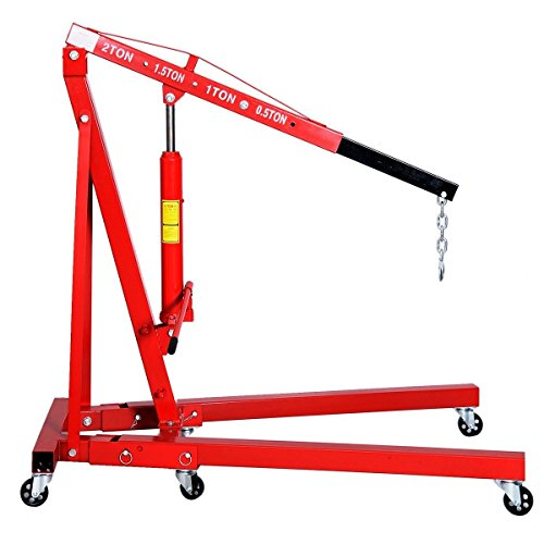 Goplus 2 TON 4000 lb Engine Hoist Stand Cherry Picker Ship Crane Folding Lift (Red) by Goplus (Image #2)